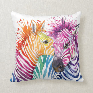 Zebra Rainbow Pillow