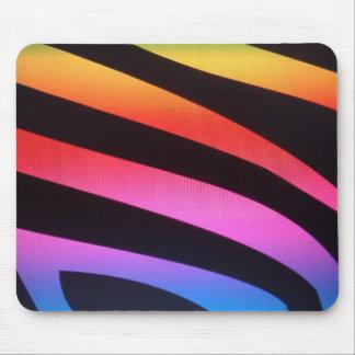 Zebra rainbow print mouse pad