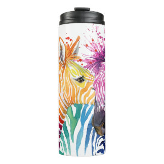 Zebra Rainbow Thermal Tumbler
