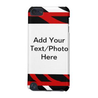 Zebra Red Black Custom Speck iPod Case