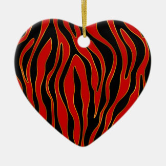 Zebra (Red & Gold) Christmas Ornament