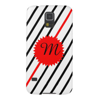 Zebra Red Stripe Monogram Galaxy S5 Covers