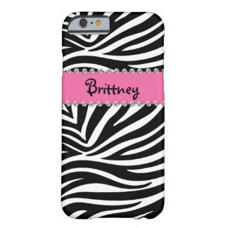 Zebra & Rhinestone BLING Case iPhone 6 case Barely There iPhone 6 Case