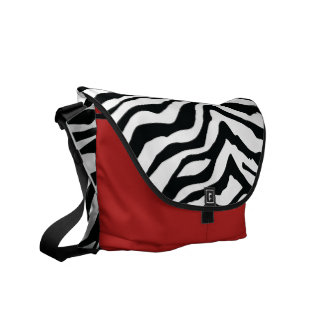 Zebra Rickshaw Messenger Bag