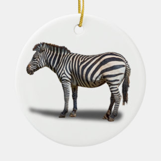 ZEBRA ROUND CERAMIC DECORATION