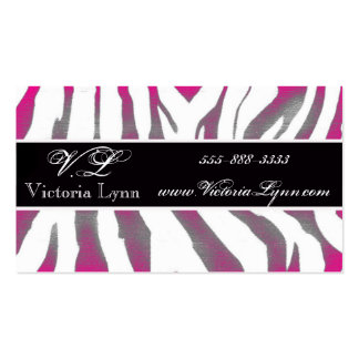 zebra rustic pink Double-Sided standard business cards (Pack of 100)