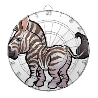 Zebra Safari Animals Cartoon Character Dartboard