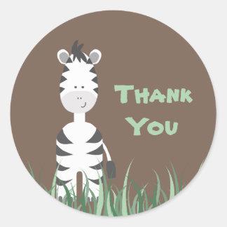 Zebra Safari Round Sticker