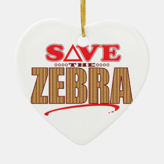 Zebra Save Christmas Ornament