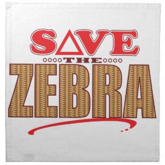 Zebra Save Napkin