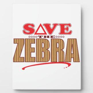 Zebra Save Plaque