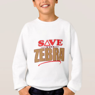 Zebra Save Sweatshirt