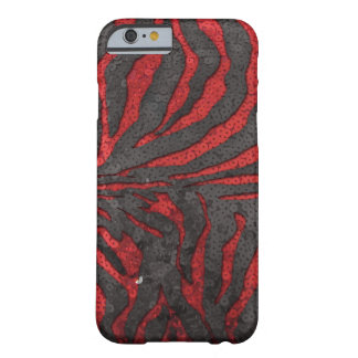 Zebra Sequins Barely There iPhone 6 Case