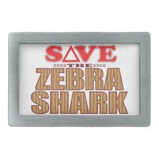 Zebra Shark Save Belt Buckle