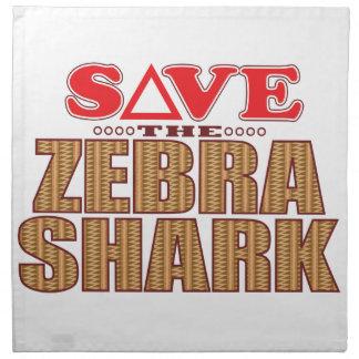 Zebra Shark Save Napkin