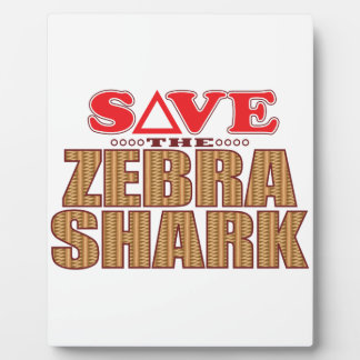 Zebra Shark Save Plaque