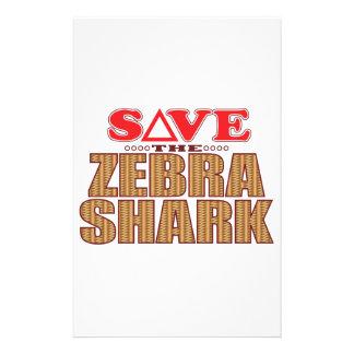 Zebra Shark Save Stationery