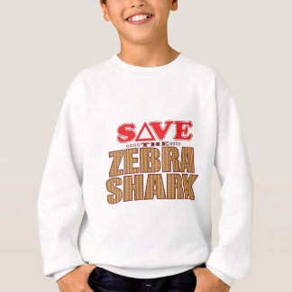 Zebra Shark Save Sweatshirt