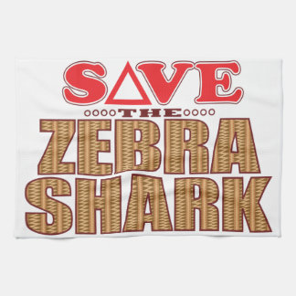 Zebra Shark Save Tea Towel