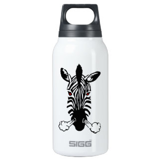 Zebra 10 Oz Insulated SIGG Thermos Water Bottle