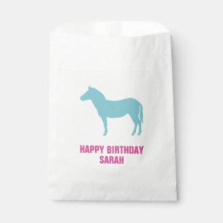 Zebra Silhouette Birthday Goodie Favour Bags