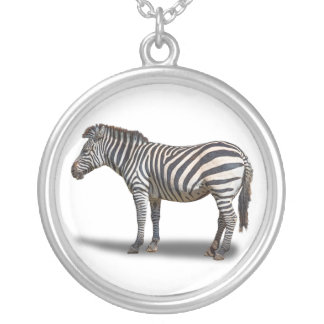 ZEBRA SILVER PLATED NECKLACE