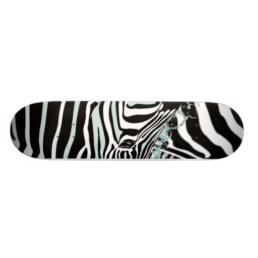 Zebra Skate Board Deck