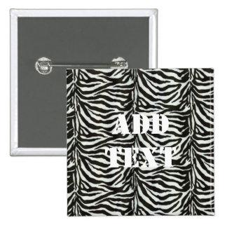 Zebra Skin Camouflage Texture 15 Cm Square Badge