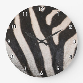 ZEBRA SKIN LARGE CLOCK