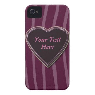 """Zebra Skin lilac/deep/pink""phone case"".* iPhone 4 Cover"