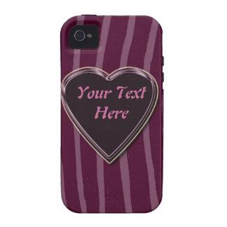 """Zebra skin lilac/deep/pink""phone case"".* iPhone 4 Covers"