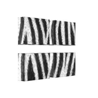 Zebra Skin Pattern 4 Panel Canvas Art Stretched Canvas Prints