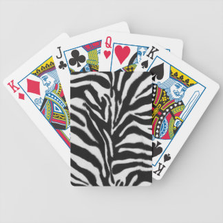 Zebra skin pattern bicycle playing cards