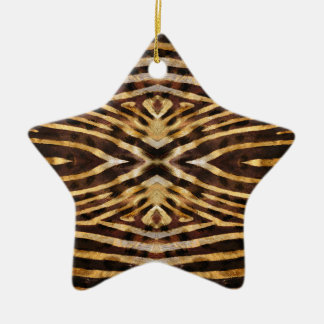 Zebra Skin Pattern Ceramic Star Decoration