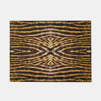 Zebra skin pattern doormat
