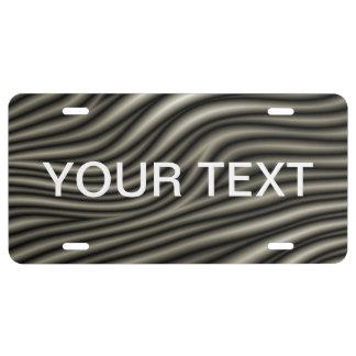 Zebra Skin Pattern License Plate