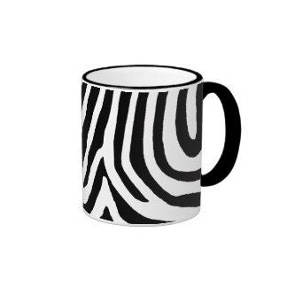 zebra skin, patterns ringer mug