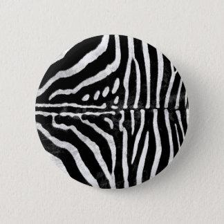 Zebra Skin Print 6 Cm Round Badge