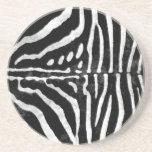 Zebra Skin Print Drink Coasters