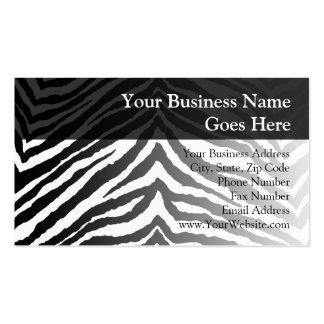 Zebra Skin Print Pack Of Standard Business Cards