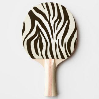 Zebra skin print stripes pattern ping pong paddle