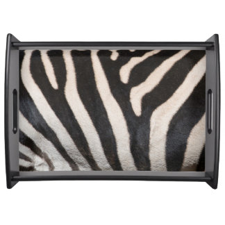 ZEBRA SKIN SERVING TRAY