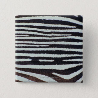 Zebra skin surface 15 cm square badge