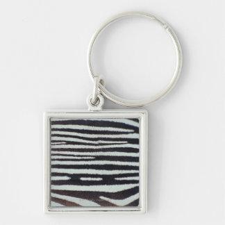 Zebra skin surface key ring