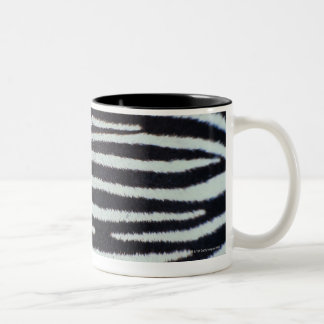 Zebra skin surface Two-Tone coffee mug