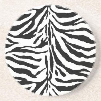 Zebra Skin Texture (Add/Change Background Color) Coaster