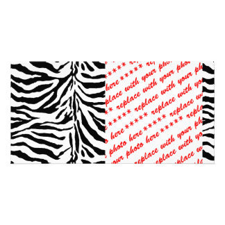 Zebra Skin Texture (Add/Change Background Color) Personalised Photo Card