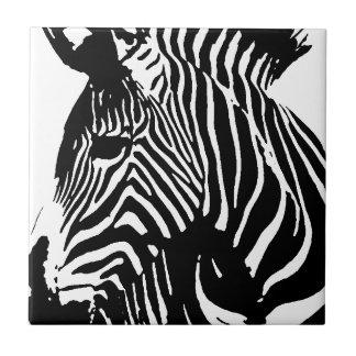 Zebra Small Square Tile
