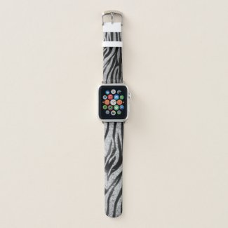 Zebra Sparkle Print Apple Watch Band