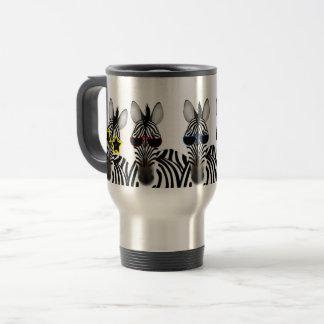 Zebra Stainless Steel 15 oz Travel/Commuter Mug